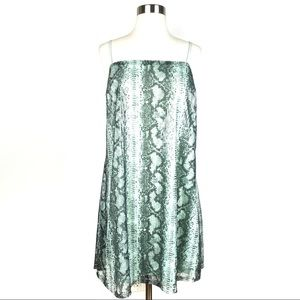 New TDC TOPSON python print Slip Dress XL Sequin